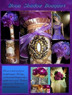 Purple Moon Shadow Bouquet by whiteriver51 on Etsy, $370.00