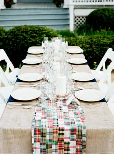Patchwork table runner.
