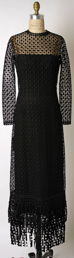 Dress, Evening  House of Dior (French, founded 1947)  Designer: Marc Bohan (French, born 1926) Date: fall/winter 1970–71