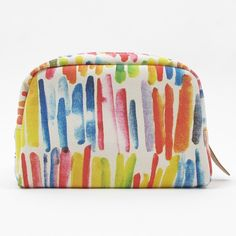 WOOD WOOD X MEDICOM, FABRICK TRAVEL POUCH: someone who loves colors more than me should have this.