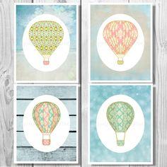 Hot Air Balloon Nursery, Hot Air Balloon Printable, Hot Air Balloon Decor, Hot Air Balloon Decoration, Hot Air Balloon, Nursery Decor 0207 by MinnesotaPrintCo on Etsy https://www.etsy.com/listing/197740646/hot-air-balloon-nursery-hot-air-balloon