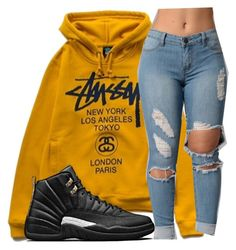 """Untitled #670"" by zayani ❤ liked on Polyvore featuring Stussy"