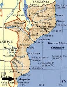 Map of Mozambique and Political Map This is where my parents live