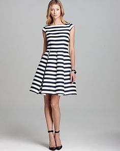 3cc15b6436 kate spade new york Mariela Dress - black and white striped dress.jpg  Casual Dresses