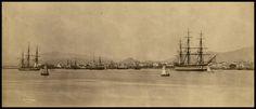 Λιμάνι Πειραιά, 1881. Φωτογραφία: Baron Paul des Granges. East Coast, Athens, Old Photos, Greece, The Neighbourhood, Urban, Explore, Country, City