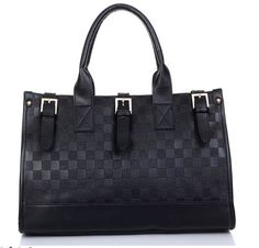 Women's faux leather satchel handbag with woven upper effect. Two handle straps with detachable shoulder strap. Internal cellphone and zipper pockets. Black.