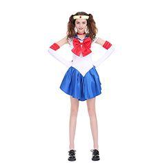 Angelaicos Womens Color Block Bowknots Costume Dress (XL, Blue) #Sailor Halloween Costumes Sailor Halloween Costumes, Animal Halloween Costumes, Sailor Moon Costume, Sailor Moon Cosplay, Costume Dress, Cosplay Costumes, French Maid Costume, Styles P, Latest Anime