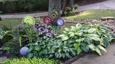 Chair Planter in the Hosta Bed