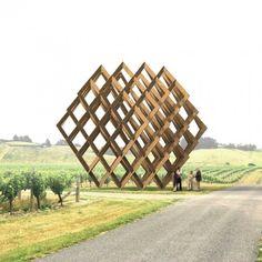 New York designer Dror Benshetrit has designed this geometric installation resembling a wine rack for Brancott Estate's Marlborough vineyards in New Zealand Wine Rack Design, New Zealand Wine, Cities, Geometric Sculpture, Landscape Elements, City Museum, Boat Tours, Hospitality Design, Dezeen