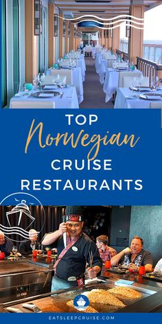 One of the best things to look forward to when cruising the ocean on an amazing cruise liner is the fantastic cuisine and fresh seafood! Here are the Top Norwegian Cruise Line Restaurants! Find everything here from pizza to buffets and calamari and it is oh so delicious! From the best waterfront restaurants to fun and funky cafes. You won't go hungry! Plus get some pro tips on promotions, costs, and if you need a reservation. Get ready to plan your next cruise with all the best food options! Cruise Checklist, Cruise Tips, Cruise Reviews, Waterfront Restaurant, Norwegian Cruise Line, Best Cruise, Fresh Seafood, How To Plan, Fun