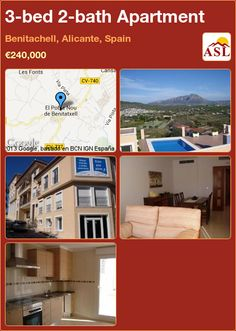 3-bed 2-bath Apartment in Benitachell, Alicante, Spain ►€240,000 #PropertyForSaleInSpain