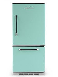 Big Chill's Retropolitan Refrigerator has a stamped metal body, authentic chrome trim, chrome handle, available left hand hinge and is energy efficient. Choose from eight standard colors or 200 custom colors.