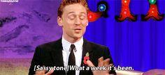 tomhazeldine: single week in the Tom Hiddleston fandom Chatty Man, Alan Carr, Fan Edits, Tom Hiddleston, Sassy, The Voice, Fangirl, Toms, Fandoms