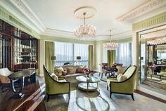 Suite diseñada en lujo con ambiente clásico