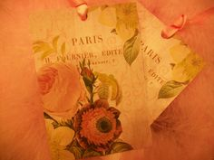 Paris with Roses Tags  Set of 8  by Piaraciccone on Etsy, $5.00