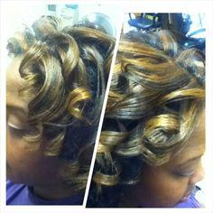 Natural Hair ....highlights and silkening