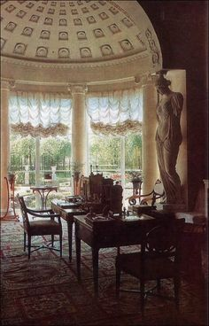 The Lantern Study of Empress Maria Feodorovna, Pavlosk Palace, St. Petersburg, 1807.