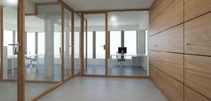 Wood & Glass Partition Wall System Nodoo | OfficeFurnitureItaly