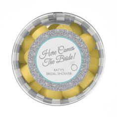 Here Comes The Bride, Bridal Shower Party Favors Chewing Gum