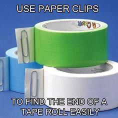 Paper clip tape enders!