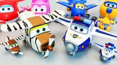 Super Wings Robot Transformer Planes Pororo Taxi Cars Toys  Truck for ki...