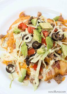 "Delicious Homemade Fry Bread - aka ""Navajo Tacos"" - one of the best recipes you'll ever try! { lilluna.com }"