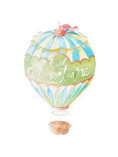 Hot Air Balloon Nursery  Hot Air Balloon by BrilliantCritter