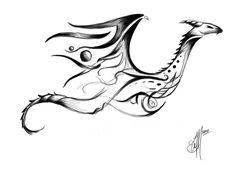 Tribal Dragon Tattoo concept by etheet on DeviantArt - dragon tattoos tribal Tribal Dragon Tattoos, Dragon Tattoo Arm, Dragon Tattoo Designs, Arm Tattoo, Body Art Tattoos, Tattoo Drawings, Small Tattoos, Samoan Tattoo, Polynesian Tattoos