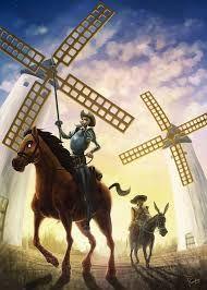Mi primera aventura junto a Don Quijote en los molinos de las colinas manchegas cerca del Toboso.