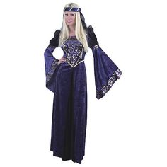 Lady Renaissance Womens Navy Black Costume ($52) ❤ liked on Polyvore featuring costumes, halloween costumes, multicolor, ladies halloween costumes, renaissance costumes, ladies renaissance costumes, navy costume and women's halloween costumes