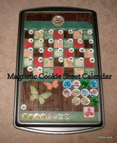 Magnetic Cookie Sheet Calendar Part 1