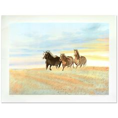 """William Nelson - """"Free"""" Limited Edition Serigraph hand signed by artist  
