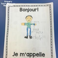 The first two weeks in grade - Primary French Immersion Resources French Language Lessons, French Language Learning, French Lessons, Spanish Lessons, Spanish Language, Spanish Teaching Resources, French Resources, Teaching Ideas, Maserati