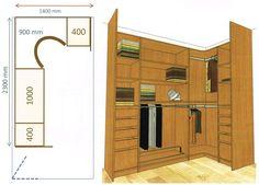 Configuration type dressing en L nous arrivons dans les configurations de dressing un peu plus conséquentes, tant par la taille de la pièce où l'installer que par la surface occupée au sol.