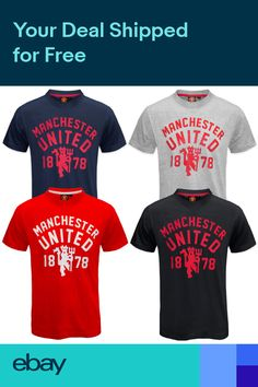 89a613d53 Manchester United FC Official Football Gift Mens Devil T-Shirt Soccer Gifts