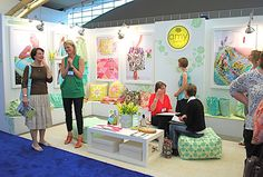 Amy Butler's style shows in her booth.