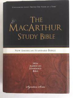 MacArthur Study Bible NAS New American Standard Hardcover DJ Thomas Nelson
