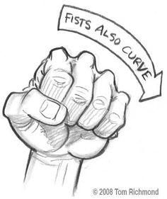 Hände zeichnen: Faust