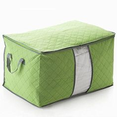 House of Quirk Foldable Charcoal Clothes Sweater Blanket Closet Organizer Storage Bag Box - Green, http://www.amazon.in/dp/B01CHWL3W2/ref=cm_sw_r_pi_i_awdl_W0fvxbCZ23R4K