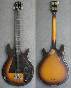 Gibson L-9s Ripper Bass … Bass Guitar Scales, Gibson Epiphone, Custom Guitars, Mandolin, Musical Instruments, Art, Electric Guitars, Bass Guitars, Kunst