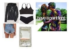 """""""p a i n t - f i g h t"""" by stacylovespink on Polyvore featuring American Eagle Outfitters, Aerie and Commando"""
