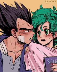 387 Me gusta, 2 comentarios - 💙 Bulma Dragon Ball Z, Vegeta And Bulma, Goku, Trash Art, Mini Comic, Manga Couple, Anime Nerd, Cute Anime Couples, Ship Art
