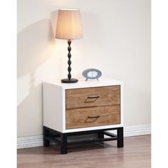 Henna Tri-tone 2-drawer Nightstand   Overstock.com Shopping - Great Deals on Nightstands