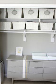nursery closet, bedroom ideas, cleaning tips, closet, storage ideas