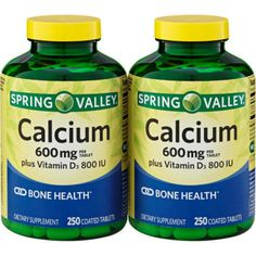 Spring Valley Calcium Supplement 600 mg with Vitamin D, 250 ct Twinpack #SpringValley