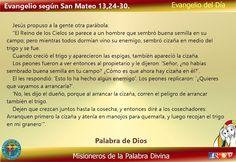 Misioneros de la Palabra Divina: EVANGELIO - SAN MATEO 13,24-30