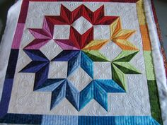Beautiful star quilting by Jamie w. via http://mqresource.com