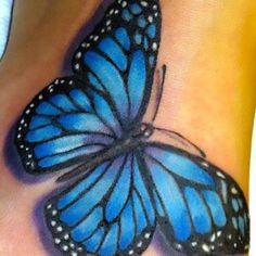 Blue Butterfly Tattoo Idea