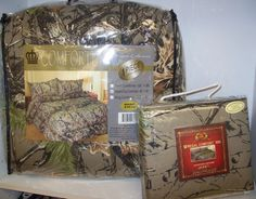 Camo Style(N) - Comforter & matching sheet set Queen $88 for all this as shown! LOOKS great on bed!