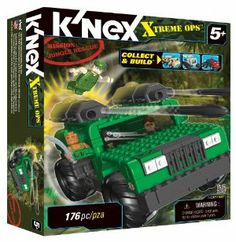 K'NEX Collect & Build Xtreme Ops Mission: Jungel Rescue by K'NEX. $19.99. Set Includes 162 pieces. 3 K'nexmen, 2 Blasters, 6 missiles, and graphic label sheet for added play. For ages 5+. Features real working Suspension. Complete Mission with Arctic Quest battle ready vehicle. From the Manufacturer                Complete Mission: Jungle Rescue with this battle-ready vehicle. The building set includes 162 pieces, 3 K'NEXmen, 2 blasters, 4 missiles and a graphi...